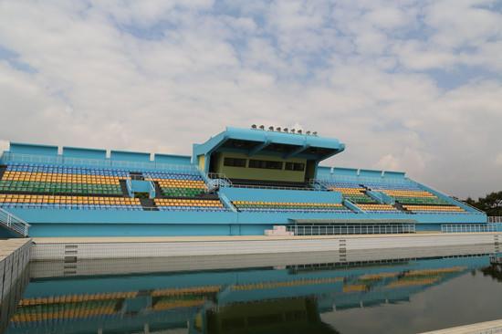援w88优德东方体育国家w88优德网站场紧急维修项目的建设正全面加速收尾