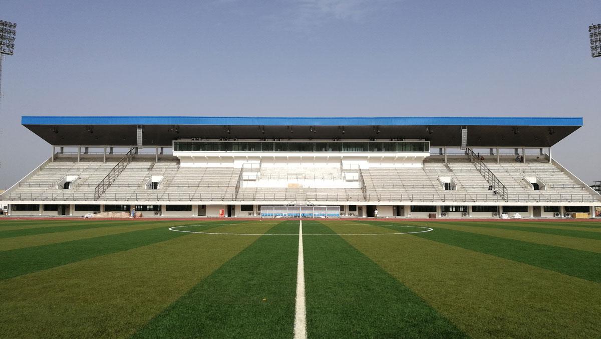 援毛里塔尼亚奥林匹亚运动场维修项目足球场已完工